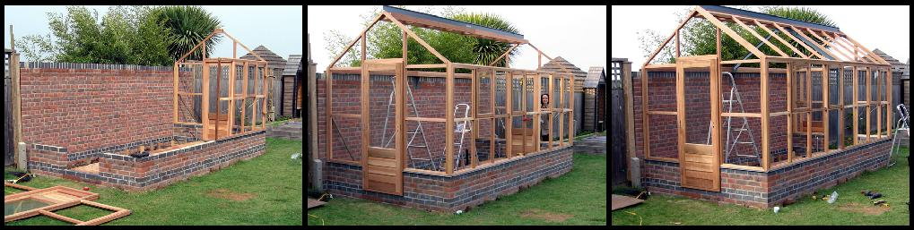 how to build a wooden greenhouse base