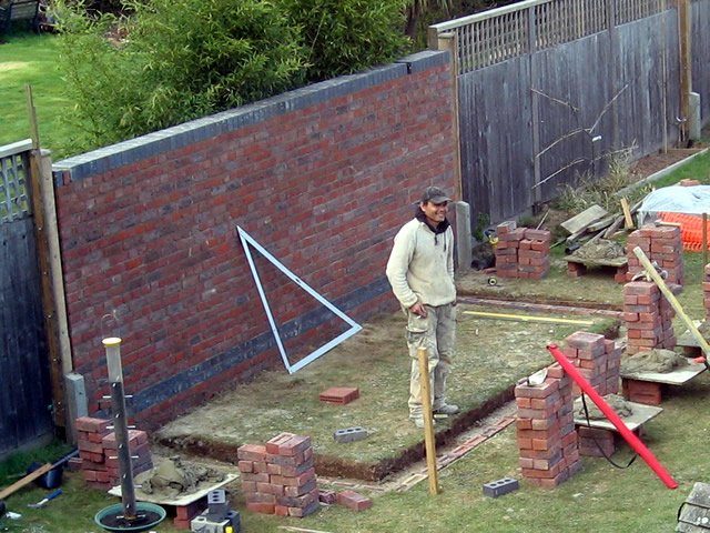 Although A Keen DIYer I Didnu0027t Fancy Tackling Foundations And Brickwork, So  We Used A Contractor For This Part. The Footings Were Dug About 18 Inches  Deep, ...