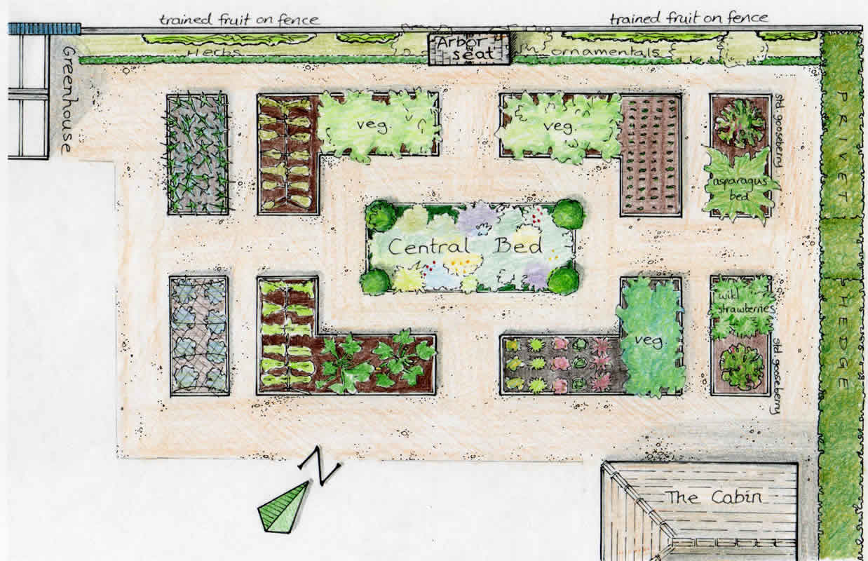 The vegetable garden an englishman 39 s garden adventures for Garden layouts designs