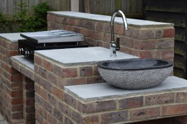 Garden Kitchen - brick and stone construction